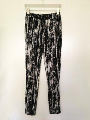 Esprit Jersey Leggings mit Reißverschluss schwarz weiß Gr. M