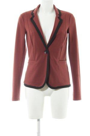 Esprit Jerseyblazer rostrot-schwarz Casual-Look