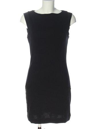 Esprit Jerseykleid schwarz Zopfmuster Casual-Look