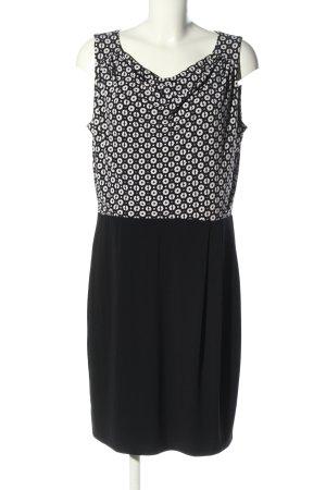 Esprit Jerseykleid schwarz-weiß Motivdruck Business-Look