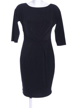 Esprit Vestido de tela de jersey negro estilo «business»