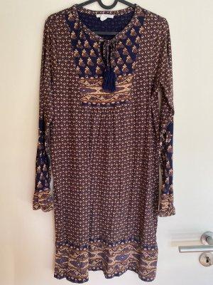 Esprit Sukienka boho brąz-niebieski
