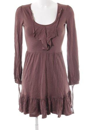 Esprit Jerseykleid braunrot Casual-Look