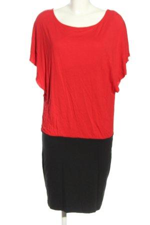 Esprit Jerseykleid rot-schwarz Casual-Look