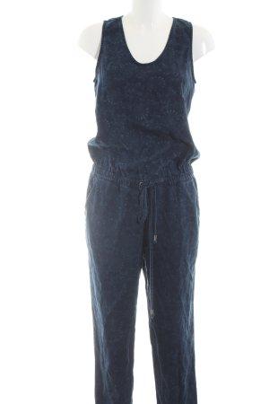 Esprit Jumpsuit blau abstraktes Muster Casual-Look