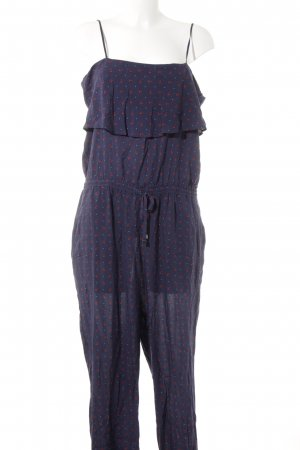 Esprit Jumpsuit dunkelblau-rot Allover-Druck Casual-Look