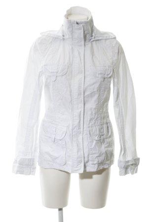 Esprit Kurtka z kapturem biały W stylu casual
