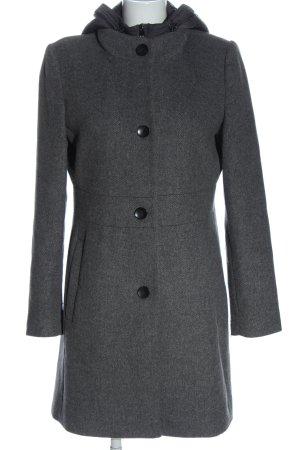 Esprit Cappotto con cappuccio grigio chiaro puntinato stile casual