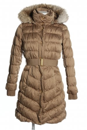 Esprit Hooded Coat brown quilting pattern casual look