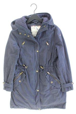 Esprit Manteau à capuche bleu-bleu fluo-bleu foncé-bleu azur coton