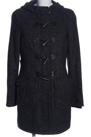 Esprit Płaszcz z kapturem czarny-jasnoszary W stylu biznesowym