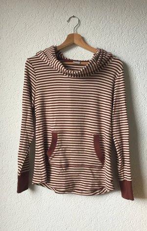 Esprit Capuchon sweater licht beige-roodbruin