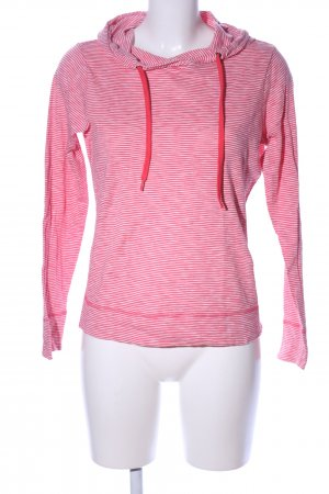 Esprit Camicia con cappuccio rosso-bianco motivo a righe stile casual