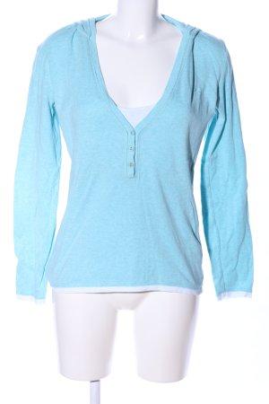 Esprit Koszulka z kapturem niebieski Melanżowy W stylu casual