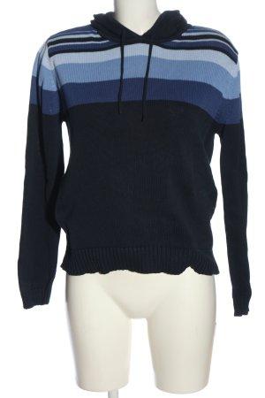 Esprit Kapuzensweatshirt blau Streifenmuster Casual-Look