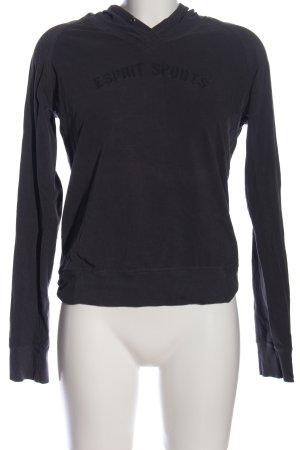 Esprit Sudadera con capucha negro letras impresas look casual