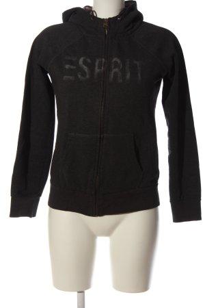 Esprit Kapuzensweatshirt schwarz meliert Casual-Look