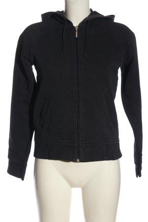 Esprit Hooded Sweatshirt black embroidered lettering casual look