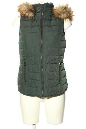 Esprit Capuchon vest khaki quilten patroon casual uitstraling