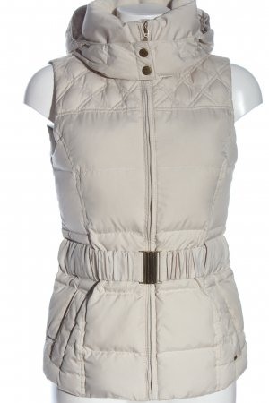 Esprit Hooded Vest white quilting pattern casual look