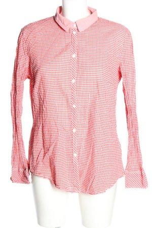 Esprit Geruite blouse wit-rood volledige print casual uitstraling