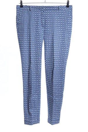 Esprit Chinohose weiß-blau Allover-Druck Casual-Look