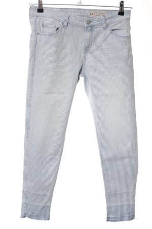 Esprit Carrot Jeans blue-light grey striped pattern casual look