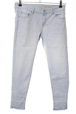 Esprit Jeans carotte bleu-gris clair motif rayé style décontracté