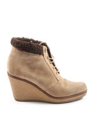 Esprit Wedge Booties brown elegant