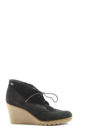 Esprit Wedge Booties black casual look