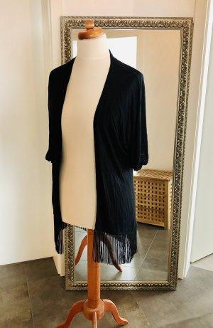 Esprit Kimono schwarz Fransen Gr. L wie neu