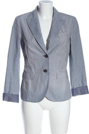 Esprit Klassischer Blazer blau-weiß Streifenmuster Business-Look