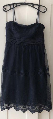 Esprit Vestido de encaje azul oscuro