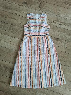 Esprit Kleid 38 M weiß bunt