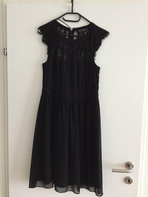 Esprit Kanten jurk zwart Polyester