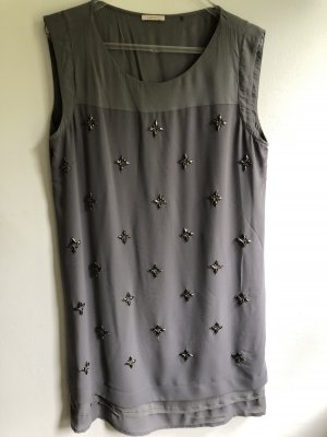 Esprit Blouse Dress grey-silver-colored