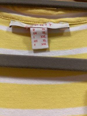 adc by Esprit Robe mi-longue jaune primevère-blanc