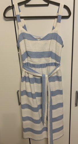 Esprit Robe mi-longue blanc-bleu clair