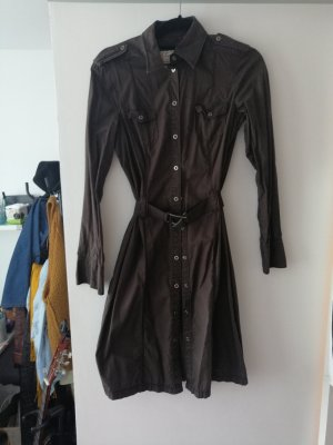 Esprit Coat Dress black brown-brown cotton