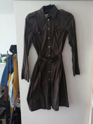 Esprit Geklede jurk zwart bruin-bruin Katoen