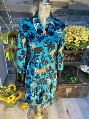 Esprit  Kleid Bunt Falten Florale Muster Größe 32 neu