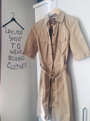 Esprit Robe en jean marron clair-crème