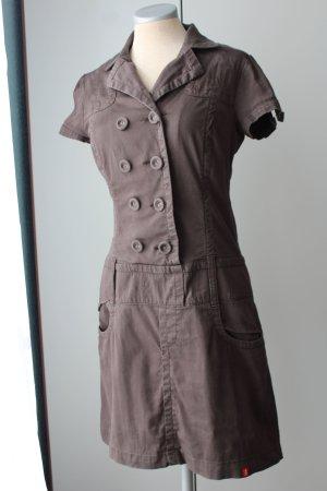 Esprit Kleid dunkelbraun EUR 34 36 Alltag  Büro Jeanskleid Kurzarm