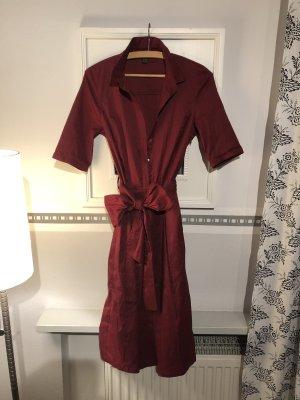 Esprit Robe chemisier rouge carmin