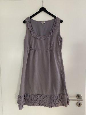 Esprit Sukienka z falbanami srebrny