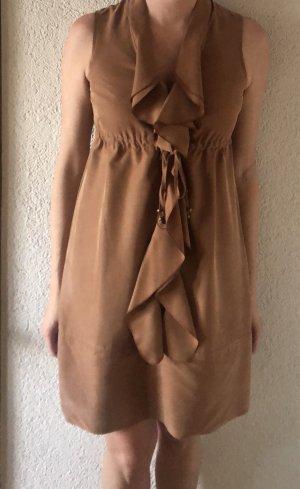 Esprit Vestido estilo flounce marrón claro-marrón