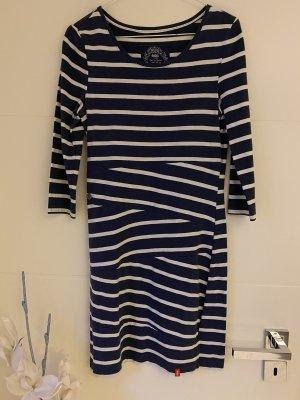 Esprit Vestido de tela de jersey azul oscuro-blanco