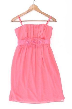 Esprit Kleid Größe 32 mit Gürtel Träger pink aus Polyester
