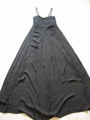 esprit kleid maxikleid sommerkleid schwarz bodenlang gr. s 36