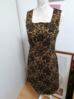 Esprit Kleid schwarz /ocker Gr. 38 neu